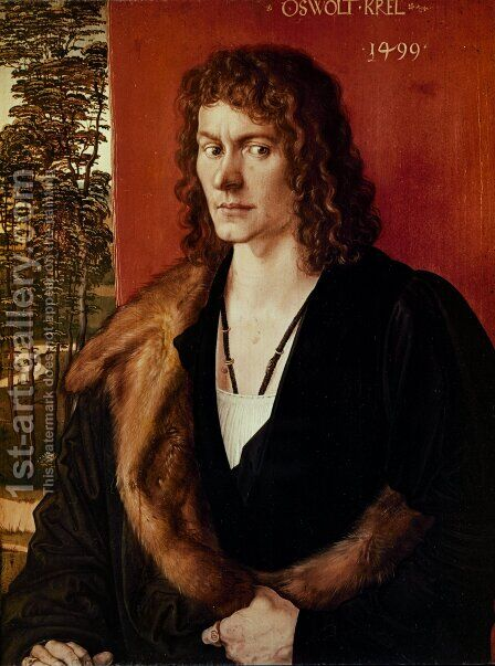 Portrait of a Man by Albrecht Durer - Reproduction Oil Painting