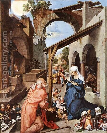 Paumgartner Altar (central panel) I by Albrecht Durer - Reproduction Oil Painting
