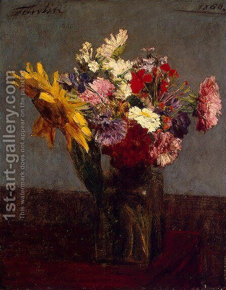 Flowers VIII by Ignace Henri Jean Fantin-Latour - Reproduction Oil Painting