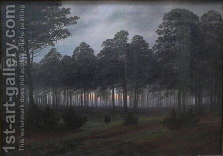 Evening by Caspar David Friedrich - Reproduction Oil Painting