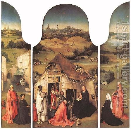 Adoration of the Magi by Hieronymous Bosch - Reproduction Oil Painting