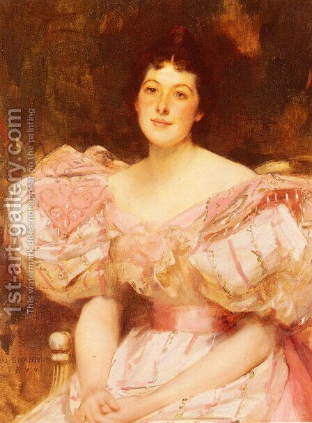 Portrait Of A Lady I by James Jebusa Shannon - Reproduction Oil Painting