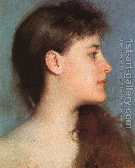 Profile by Edmund Charles Tarbell - Reproduction Oil Painting