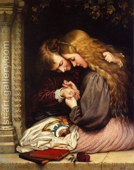 The Thorn I by Charles West Cope - Reproduction Oil Painting