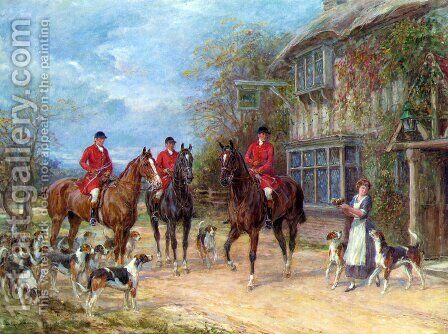 A Halt at the Inn by Heywood Hardy - Reproduction Oil Painting