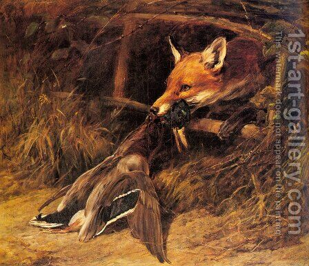 Returning to the Fox's Lair by Heywood Hardy - Reproduction Oil Painting