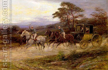 On The Road To Gretna Green by Heywood Hardy - Reproduction Oil Painting