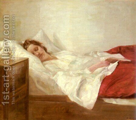 Asleep by Carl Vilhelm Holsoe - Reproduction Oil Painting