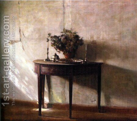 Interior I Sollys (A Sunlit Interior) by Carl Vilhelm Holsoe - Reproduction Oil Painting