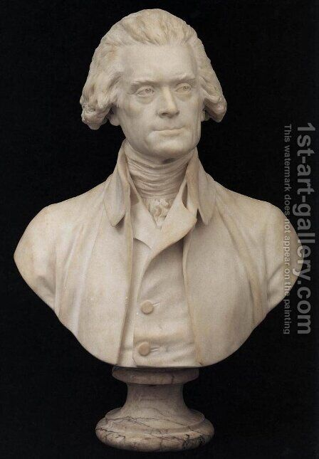 Bust of Thomas Jefferson by Jean-Antoine Houdon - Reproduction Oil Painting