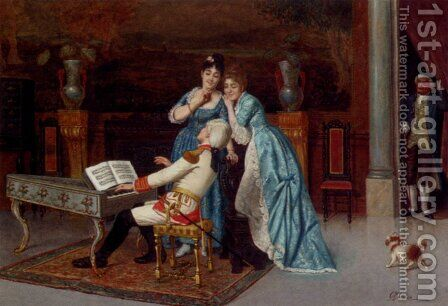 The Love Song by Antonio Maria Fabres Y Costa - Reproduction Oil Painting