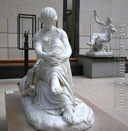 Sappho by James Pradier - Reproduction Oil Painting
