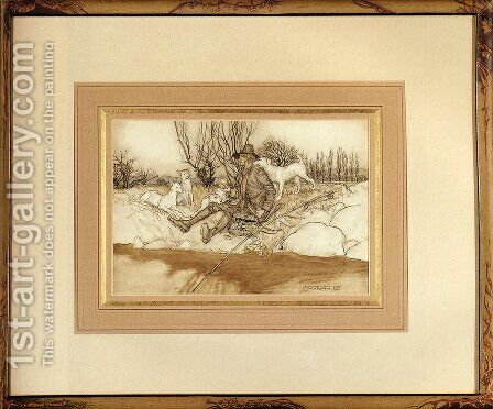 Rip Van Winkle by Arthur Rackham - Reproduction Oil Painting