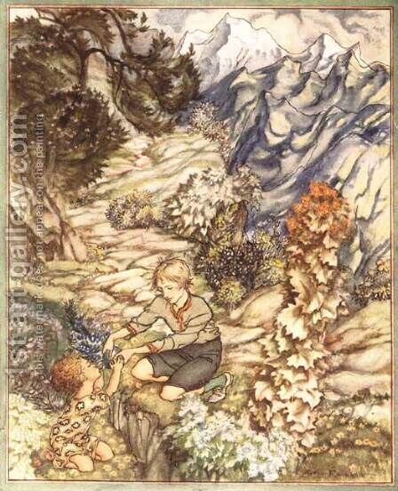 King of the Golden River: Gave the Child a Bottle by Arthur Rackham - Reproduction Oil Painting
