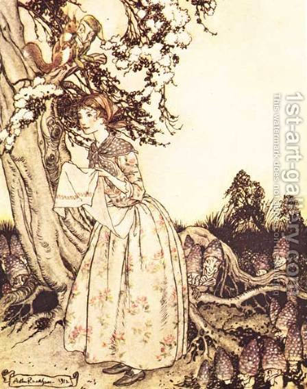 Mother Goose: The Fair Maid who the first of Spring by Arthur Rackham - Reproduction Oil Painting