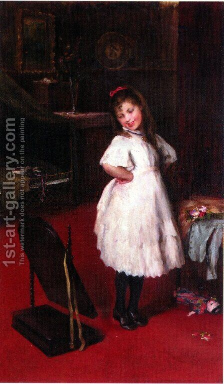 The Party Dress by Artur Lajos Halmi - Reproduction Oil Painting