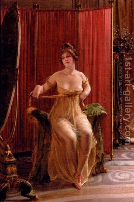 In The Dressing Room by Charles Joseph Frederick Soulacroix - Reproduction Oil Painting