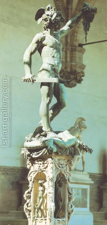 Perseus by Benvenuto Cellini - Reproduction Oil Painting