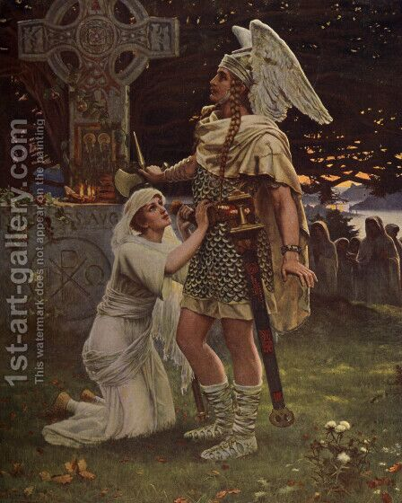 Sir Galahad by Herbert Gustav Schmalz - Reproduction Oil Painting