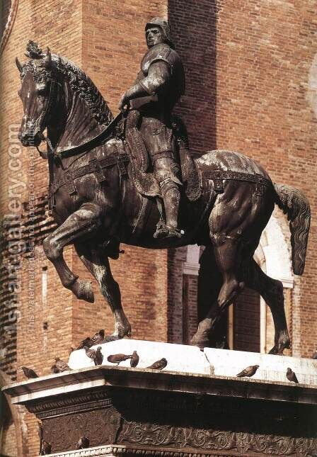 Equestrian Statue of Colleoni by Andrea Del Verrocchio - Reproduction Oil Painting