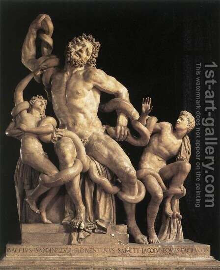 Laocoon by Baccio Bandinelli - Reproduction Oil Painting