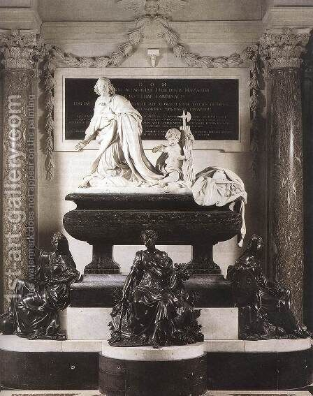 Funeral Monument of Mazarin by Antoine Coysevox - Reproduction Oil Painting