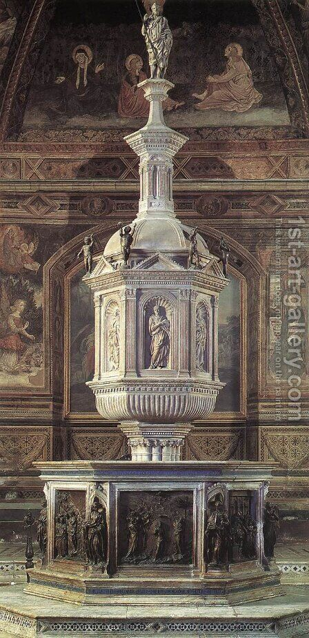 Fountain by Jacopo della Quercia - Reproduction Oil Painting