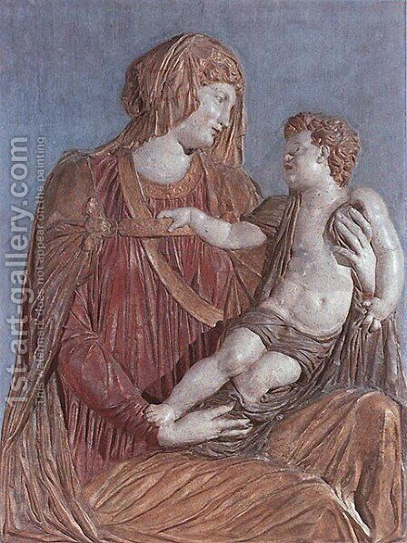 Madonna col Bambino (Madonna with Child) by Andrea Sansovino - Reproduction Oil Painting