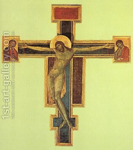 Crucifix by Giovanni Cimabue - Reproduction Oil Painting