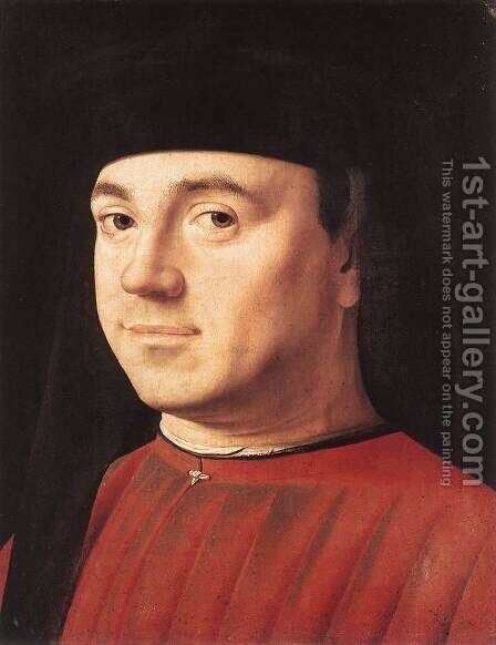 Portrait of a Man I by Antonello da Messina Messina - Reproduction Oil Painting