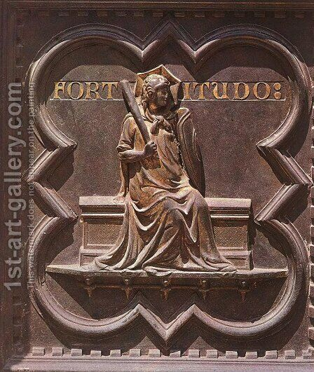 South Doors: Fortitude by Andrea Pisano - Reproduction Oil Painting