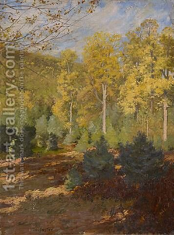 Forest Interior, Autumn by Ben Foster - Reproduction Oil Painting