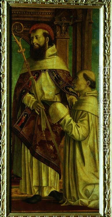 St. Bernard by Bernadino Zenale - Reproduction Oil Painting
