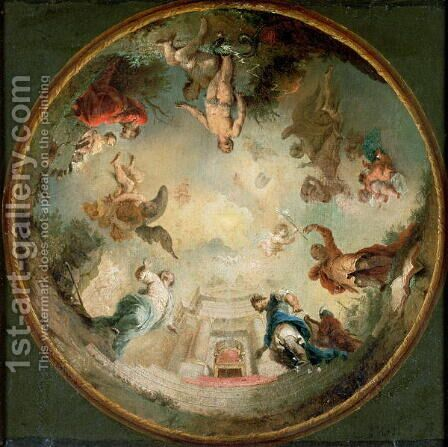 Ceiling Design by Januarius Zick - Reproduction Oil Painting