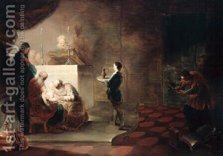 The Circumcision of Christ, after 1751 by Januarius Zick - Reproduction Oil Painting