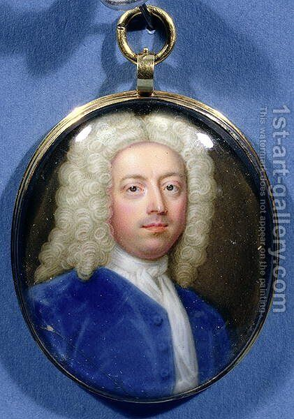 Miniature of Joseph Addison (1672-1719) by Christian Friedrich Zincke - Reproduction Oil Painting