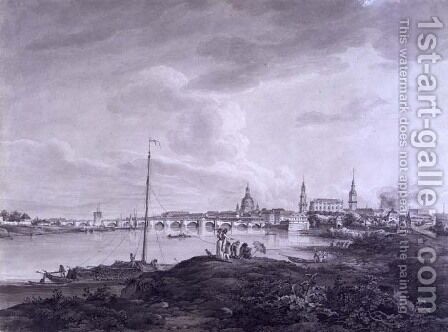 View of Dresden, c.1788 by Adrian Zingg - Reproduction Oil Painting