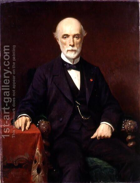 Louis-Charles de Saulces de Freycinet (1828-1923) 1880 by Achille Zo - Reproduction Oil Painting