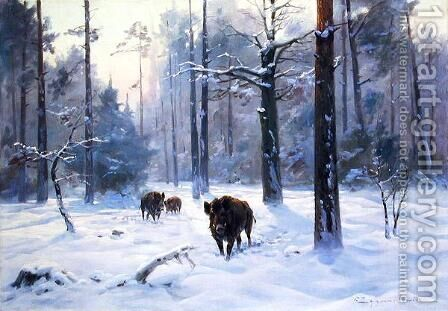 Winter in the Forest, c.1930 by Ignacy (Czeslaw Wasilewski) Zygmuntowicz - Reproduction Oil Painting