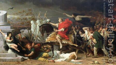 Caesar, 1875 by Adolphe Yvon - Reproduction Oil Painting