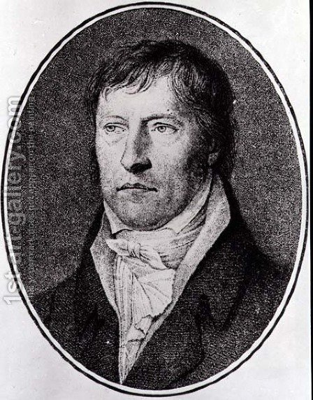 Portrait of Georg Wilhelm Friedrich Hegel (1770-1831), German philosopher, engraved c.1825 by F.W. Bollinger (1777-1825) by (after) Xeller, Johann Christian - Reproduction Oil Painting