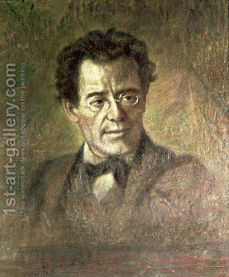 Gustav Mahler (1860-1911) by Anton Wagner - Reproduction Oil Painting