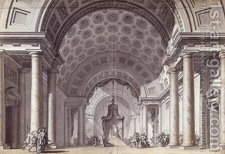Set design for 'Athalie' by Jean Racine, c.1780 by Charles de Wailly - Reproduction Oil Painting