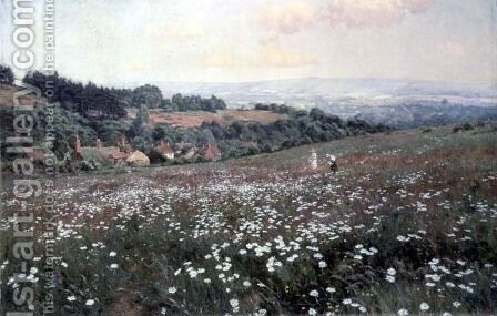 The Daisy Field, Fittleworth by Edward Wilkins Waite - Reproduction Oil Painting