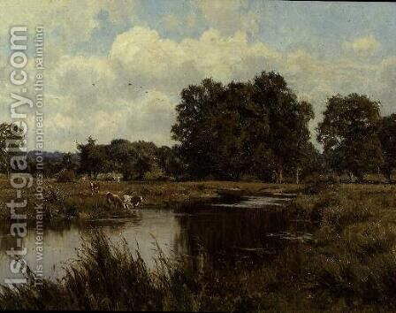 Rushy Meadows by the Kennet, Woolhampton, Berkshire, 1913 by Edward Wilkins Waite - Reproduction Oil Painting