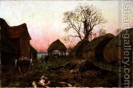 A Frosty Sunset, 1907 by Edward Wilkins Waite - Reproduction Oil Painting