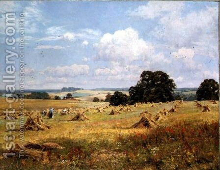 Lovely Peace with Plenty Crowned, near Abinger, Surrey, 1907 by Edward Wilkins Waite - Reproduction Oil Painting