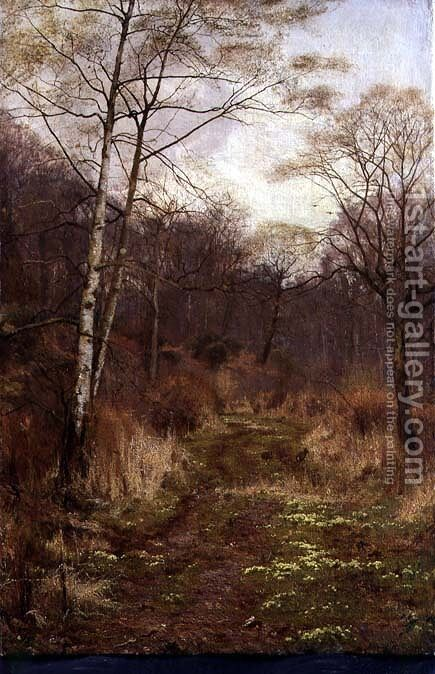 A Woodland Path in Spring, 1891 by Edward Wilkins Waite - Reproduction Oil Painting
