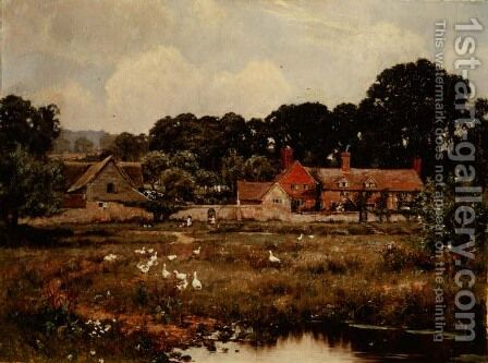 The Hatch Farm, Gomshall, Surrey by Edward Wilkins Waite - Reproduction Oil Painting