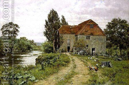 Fittleworth Mill, Sussex, 1918 by Edward Wilkins Waite - Reproduction Oil Painting